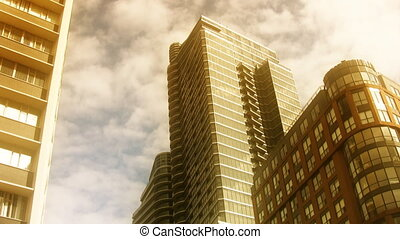Dream condos. Timelapse clouds. - Condominiums and in...