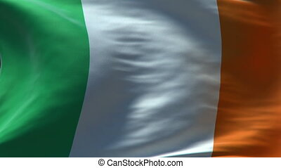 ireland flag waving loop high resolution texture in HD