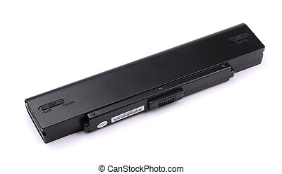 Laptop battery - Laptop rechargeable battery isolated on...