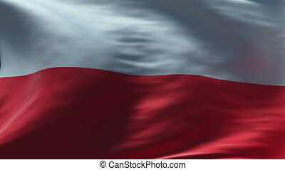 poland flag waving loop high resolution texture in HD