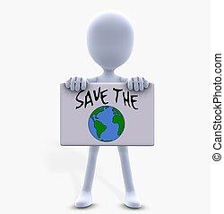 safe the world - 3d render