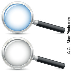 Magnifying glass Highly detailed realistic vector...