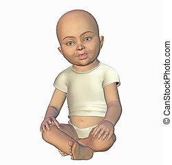 baby toon - 3d render
