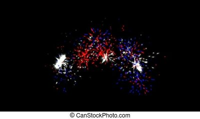 holiday fireworks and particle at night