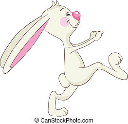 funny rabbit - Funny running rabbit.
