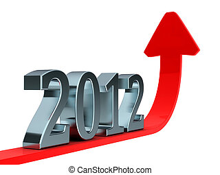 2012 boom - High resolution 3d render of an 2012 font made...