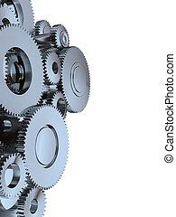Gear - High resolution 3d render of an gear made of metal...