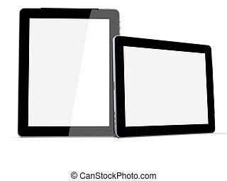Tablet PC - High resolution 3d render of an Tablet pc or...
