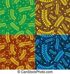 Patrones, hojas, Tamarindo,  seamless