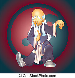 Tai Chi Master - Vector illustration of an asian expert of...