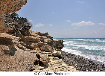 kefalos, Zachód słońca, Plaża