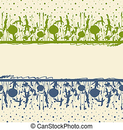 Meadow herbs frame Vector illustration