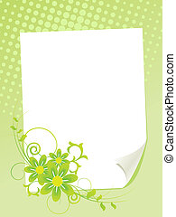 Paper sheet with summer flowers.