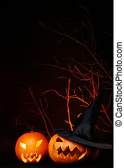 halloween background on black the black background -...