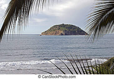 Island in the Mexican Pacific Ocean - Tropical island Islote...