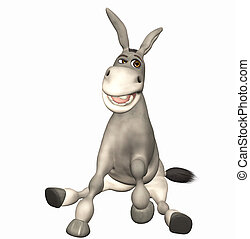 donkey toon - 3d render