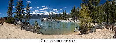 Lake Tahoe - panorama of Sand Harbor, Lake Tahoe