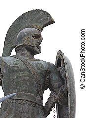 Leonidas statue at Sparta city in Greece