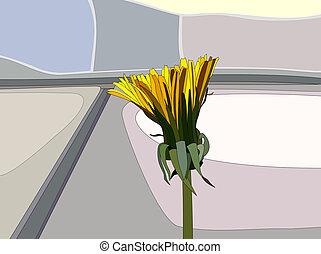 Dandelion - Illustration of a lonely dandelion.