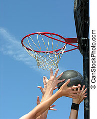 calle, baloncesto