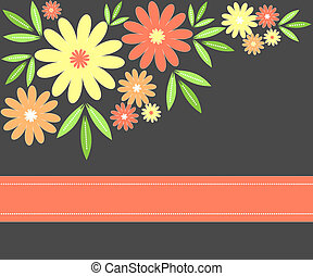 Flowers design - Flowers and leaves design