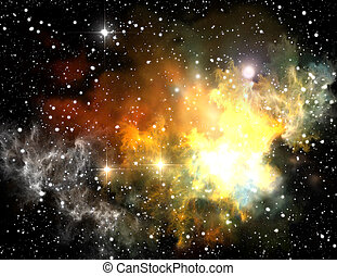 Colorful space nebula abstract universe background