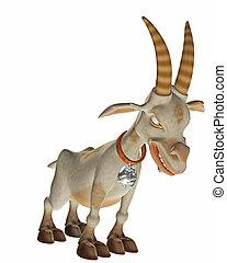 toon goat - 3d render