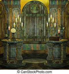 spooky altar - 3d render