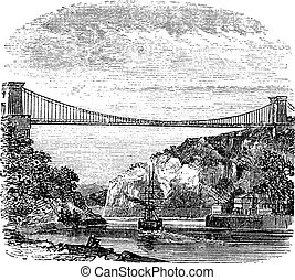 Clifton Suspension Bridge, in Clifton, Bristol to Leigh...