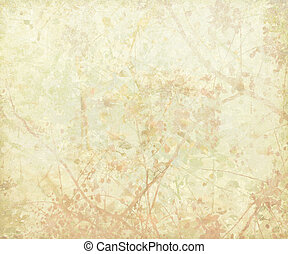 Pastel Tangled Blossom Art on Paper Background