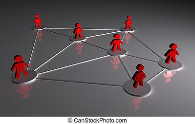 Concept of people connected