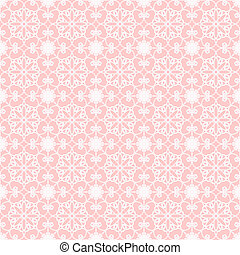 seamless lace background on pink vector illustration