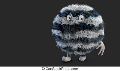 fluffy hairy ball   alpha channel