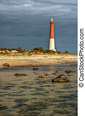 Lighthouse at Barnegat State Park, New Jersey.