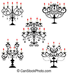 Candelabra - Illustration vector