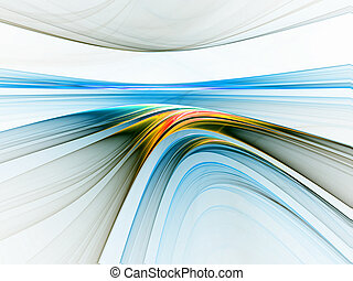 colorful linear horizon - Abstract illustration of colorful...