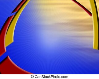 Synchronous Loop - SD - Abstract combination of color,...