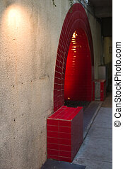 Red Door and Tunel - Tunel at San Antonio River Walk