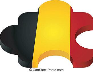 Vector puzzle Belgium