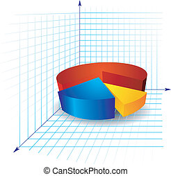 color diagram with segments segments on a white background