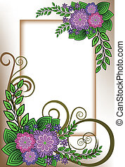 Frame of lilac flowers