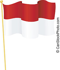 flag of Indonesia. vector - vector illustration of flag of...