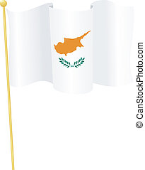 flag of Cyprus vector - vector illustration of flag of...