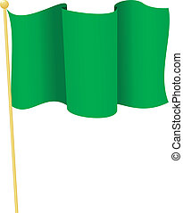 flag of Mauritania. vector - vector illustration of flag of...