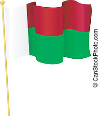 flag of Mauritius. vector - vector illustration of flag of...