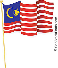 flag of Malaysia vector - vector illustration of flag of...