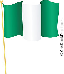 flag of Nigeria. vector - vector illustration of flag of...