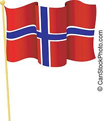 flag of Norway vector - vector illustration of flag of...