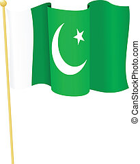 flag of Pakistan vector - vector illustration of flag of...