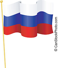 flag of Russia. vector - vector illustration of flag of...